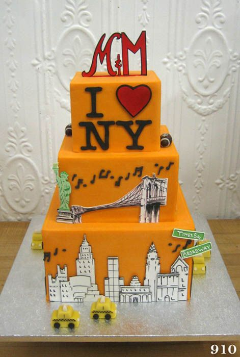 Love this - would change the base colour if I did it (but it looks taxi yellow so I get it) - but an utterly fab NYC cake design