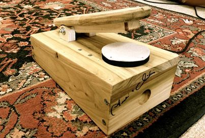 This is my second Mississippi Stomp Box.  Basically just a foot pedal with a striking pad over an inclosed microphone element within a resonate chamber.  Sounds like a bass drum when run through an amplifier.