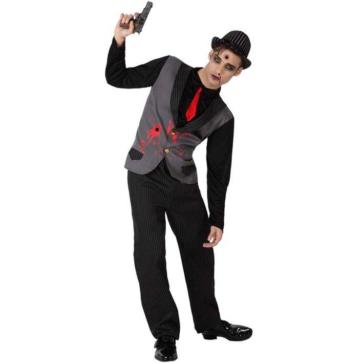 Disfraz de mafioso zombie #disfraces #halloween