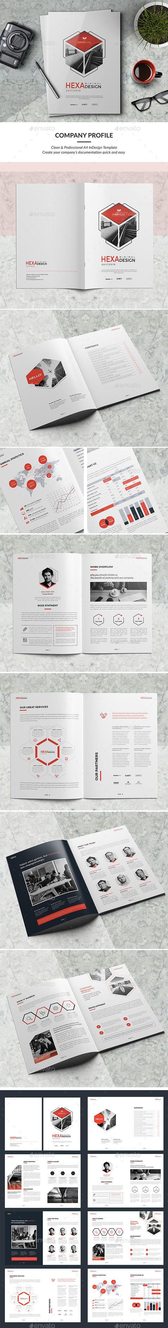Minimal Company Profile — InDesign INDD #brochure design #creative • Download ➝ https://graphicriver.net/item/minimal-company-profile/19260716?ref=pxcr