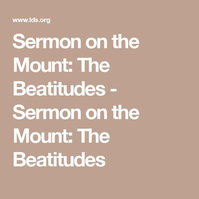 Fave: Sermon on the Mount: The Beatitudes - Sermon on the Mount: The Beatitudes