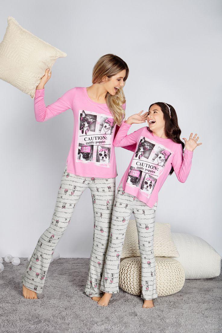 Seus momentos divertidos sempre acompanhados de pijamas lindos!