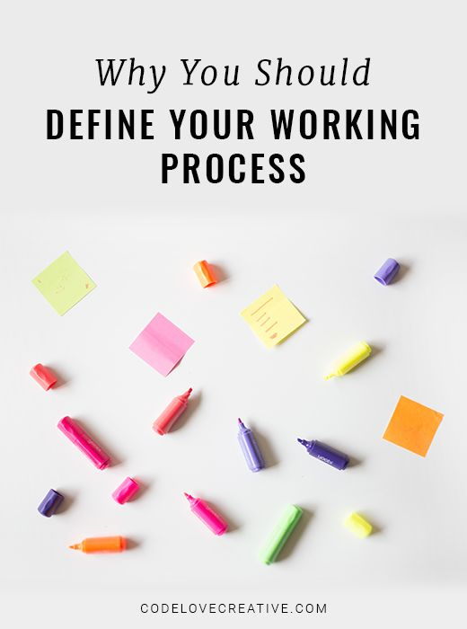 Why You Should Clearly Define Your Working Process