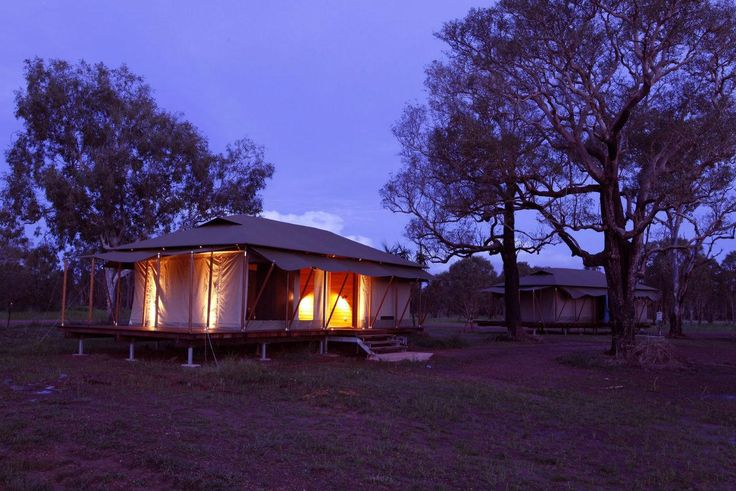 Adventure and luxury in the safari tents of the Wildman Wilderness Lodge. #interdema #safaritent #ecoresort #luxury #travel #design #WildmanWildernessLodge #KakaduNationalPark #Australia #дизайн #люкс #путешествие