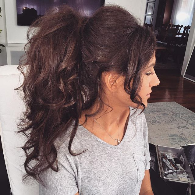 Would work with my bangs | Clip in ponytail, Human hair