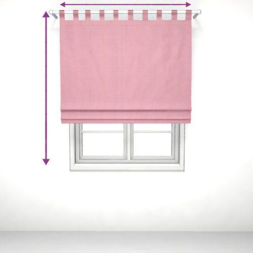 LOTTA-dots-rosa-Raffrollo-mit-Schlaufen