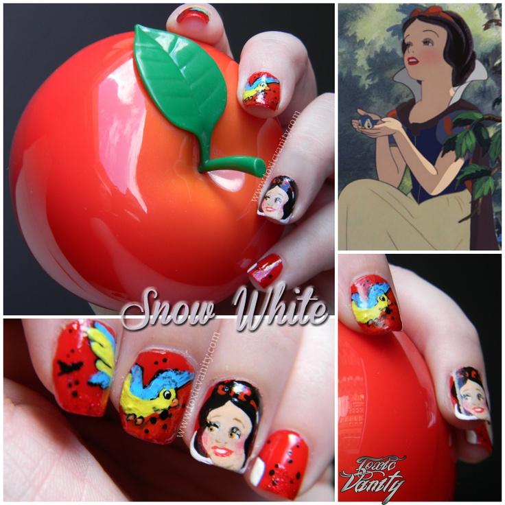 Snow White NailsNails Inspiration, Disney Nailart, Nails Nails, Toxic Vanities, Nails Art, Nails Design, Disney Nails, Snow White Nails, Nails Hair Beautiful