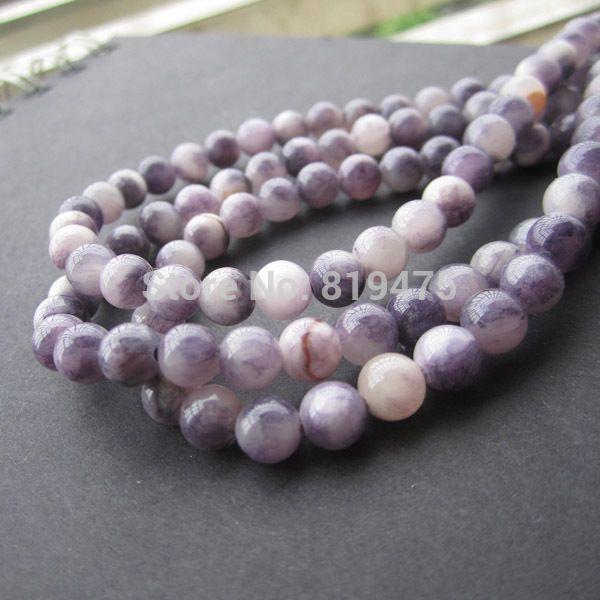 6 8 10 мм Камень Бисер Браслет Круглый Bosi Камень Фиолетовый цвет для Изготовления ювелирных изделий