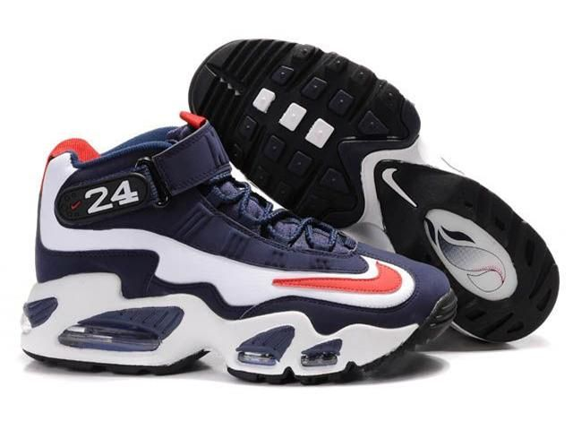 https://www.kengriffeyshoes.com/nike-navy-blue-white-red-ken-griffey-shoes-p-2.html Only$81.80 #NIKE NAVY BLUE WHITE RED KEN GRIFFEY #SHOES #Free #Shipping!