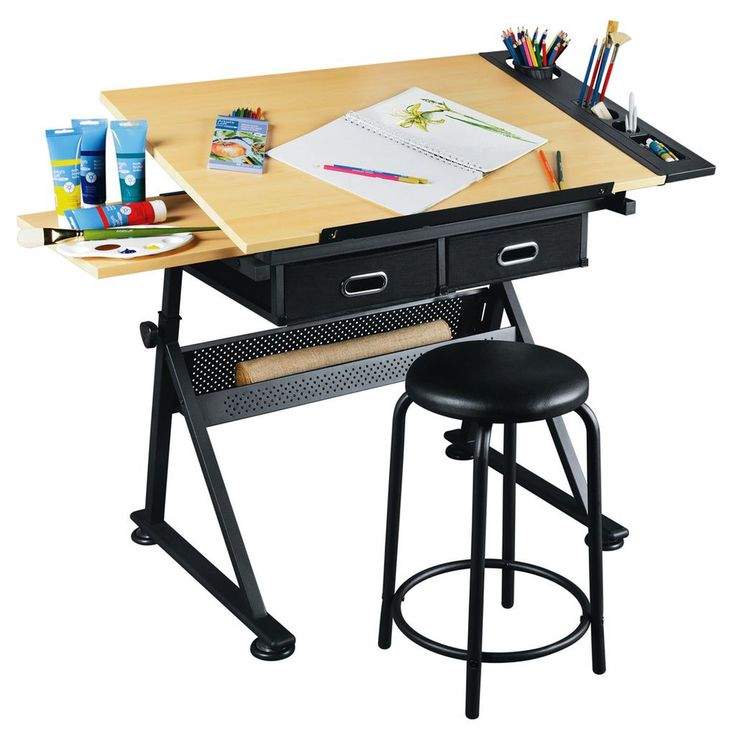 Specially designed for creative use, this table is the perfect workspace for arts and crafts projects, sketching, drafting and more.