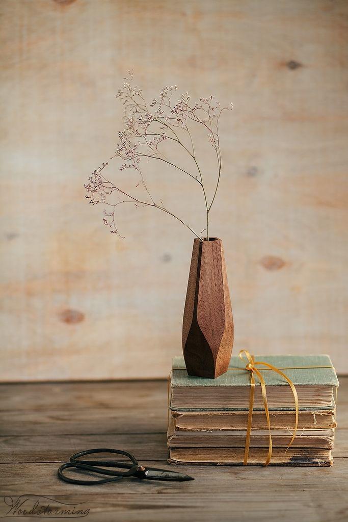 Woodstorming — Wavy wood vase