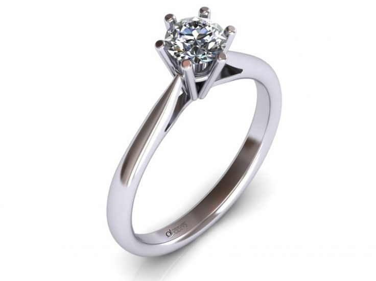 Inel de logodna ATCOM Lux cu diamant PERSEIDES aur alb