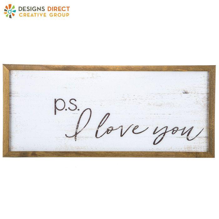 P.S. I Love You Wood Wall Decor | Hobby Lobby | 1394543