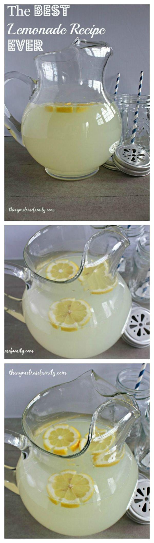 The BEST Lemonade Recipe EVER!