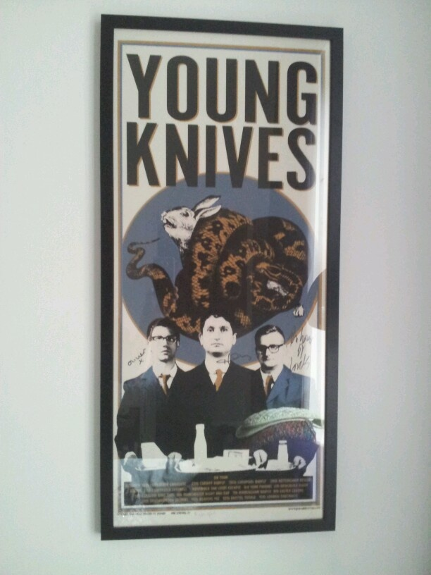limited print young knives signed tour poster........love it!