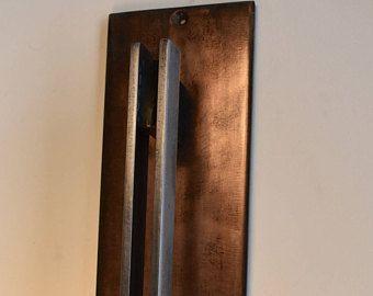 Copper Patina Door Pull Barn Door Handle With Parallel Pull Handle Barn Door Handles Door Handles Door Pull Handles