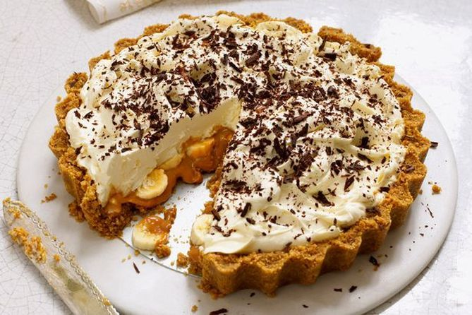 Receita de Torta Banoffee (Banoffee Pie)       Fonte da imagem: gourmettraveller88.com   muito bom!!!!!   Essa é uma torta daquelas de com...