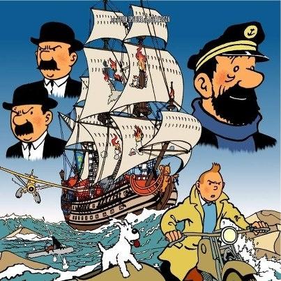 Tintin movie poster! ^^