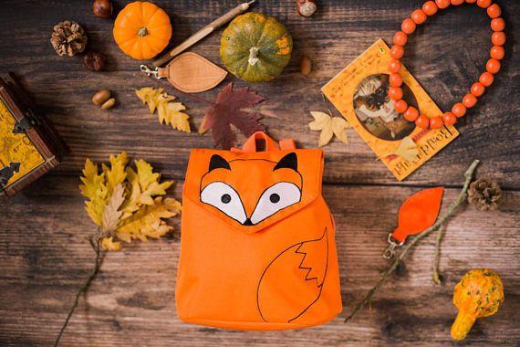 Fox Bag Fox Purse Embroidered Mini Backpack Waterproof
