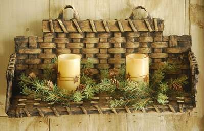 "wicker shelf/basket.....16"" wide. 