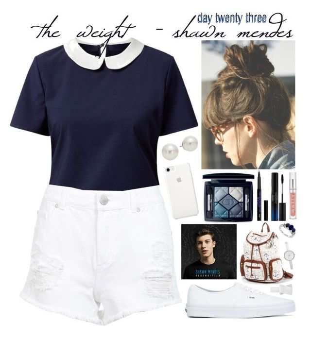 """""""day twenty three, the weight by shawn mendes"""" by roxouu ❤ liked on Polyvore featuring Belle Heart, Miss Selfridge, Vans, Christian Dior, Shiseido, AK Anne Klein, DKNY, Essie, music and shawn"""