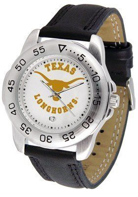 Texas Longhorns Suntime Mens Sports Watch w/ Leather Band - NCAA College Athletics by SunTime. $41.95. A true sports person's watch, the Sport features: a durable rotating timer/bezel, stainless steel finish, scratch resistant crystal, quartz accurate movement, color coordinated leather strap, date function and a big, bold California State (Northridge) Matadors team logo on the dial. Wear it to a game, while watching a game or just to show off your NCAA pride wherever...