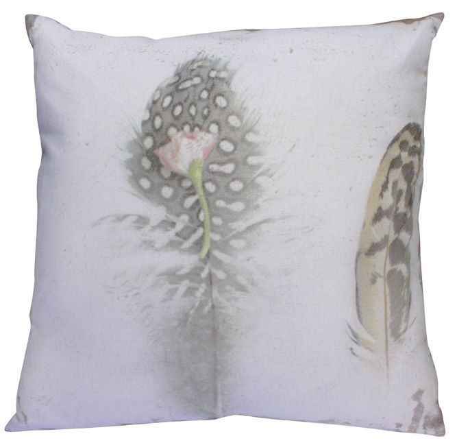 Rustic Feathers Cushion PLUS Insert - 45cm x 45cm - cabin in the woods style
