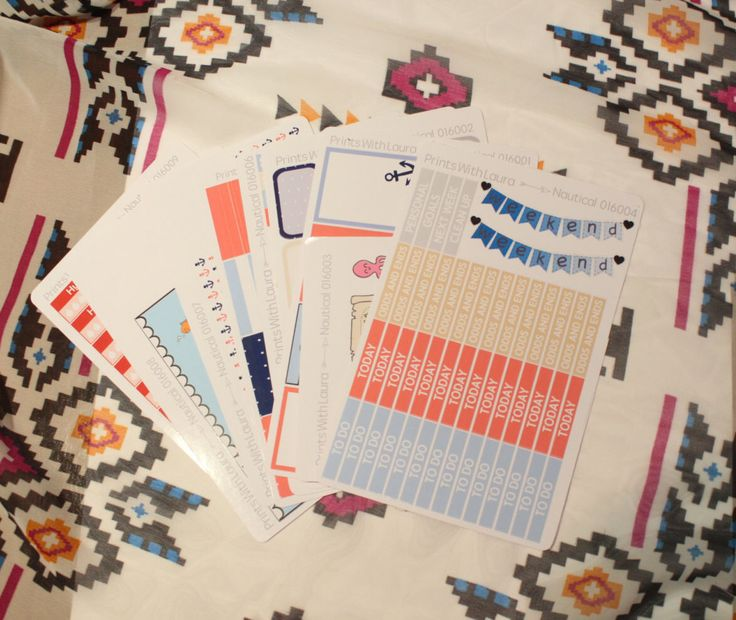 A personal favourite from my Etsy shop https://www.etsy.com/uk/listing/265695850/nautical-theme-planner-stickers-kit-erin