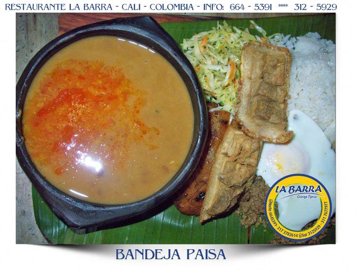 Restaurante La Barra - Bandeja Paisa - #Cali  - #Colombia