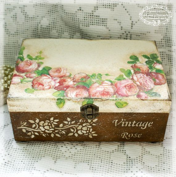 Vintage rose caja