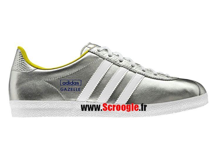 Chaussures de Originals Pas Cher Pour Homme/Femme Adidas Gazelle OG W Argent métallisé G95608