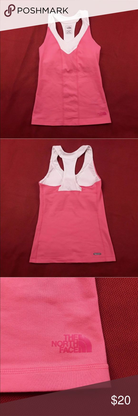 Racerback Tank Top 🌸 Vapor Wick Gently Used Condition! No Flaws.  Size XS.  Please, review pics. Contact me if you have questions. Smoke/Pet free home. North Face Tops Tank Tops