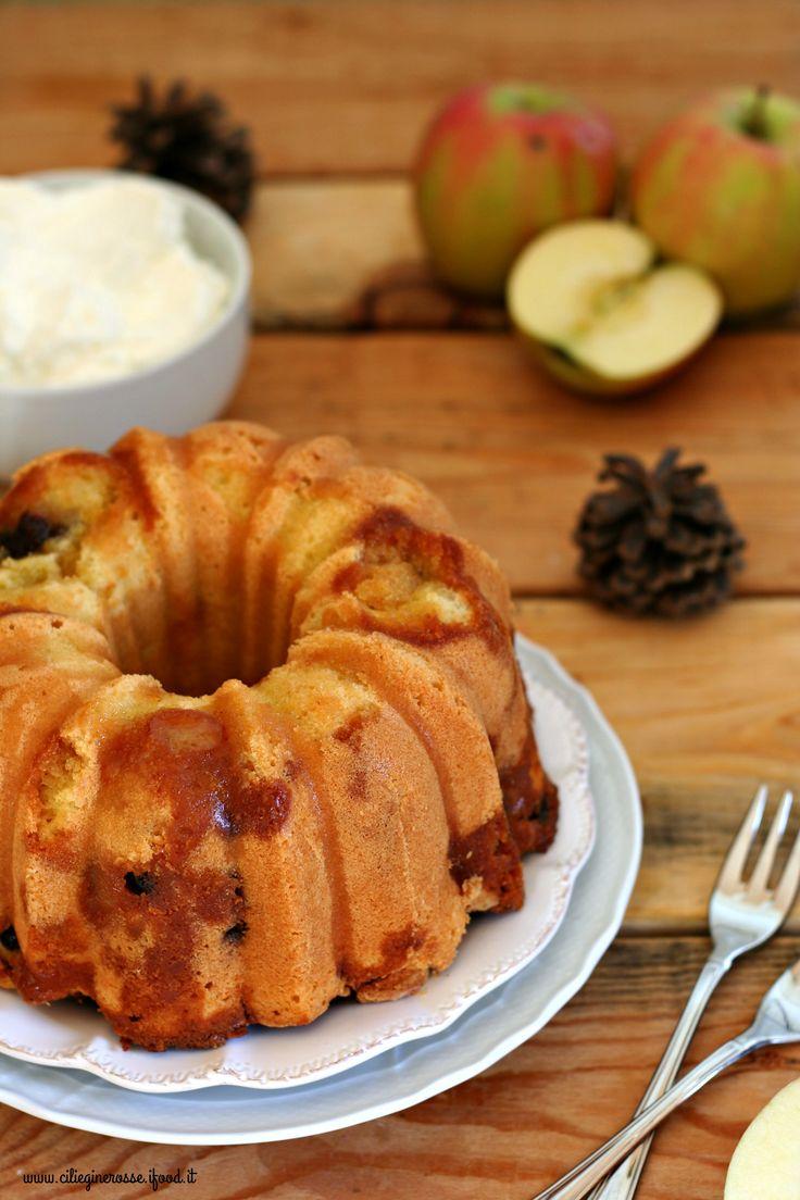 Torta quattro quarti alle mele caramellate, uvetta e cannella | Ciliegine Rosse