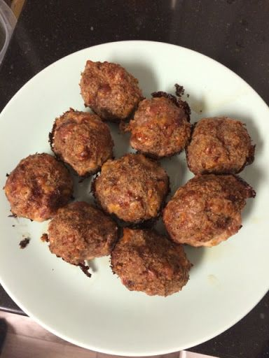 Keto cheesy meatloaf poppers
