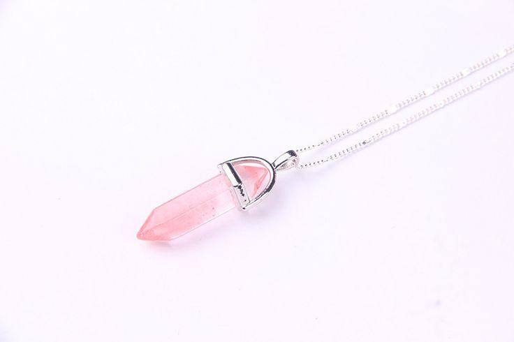 Natural stone pendant jade Color Quartz necklaces & pendants Fashion Jewelry necklace Bijoux