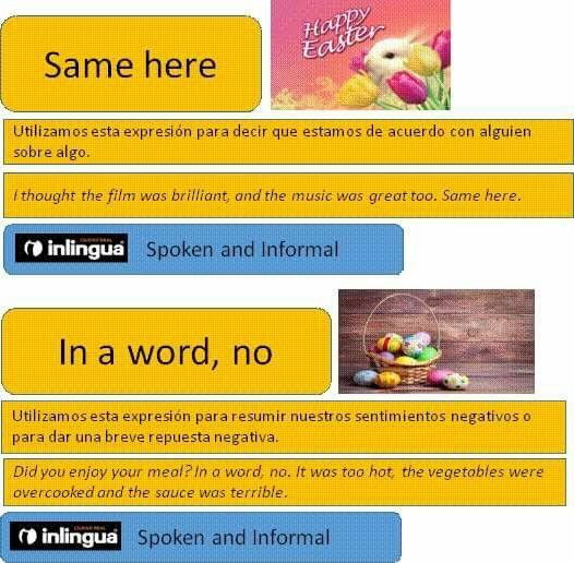 Expressions inlingua