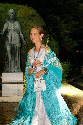 Infanta Elena of Spain  - Golden Wedding Anniversary of Konstantin II and Annemarie of Greece  in Piraeus, Greece, 18 September 2014.