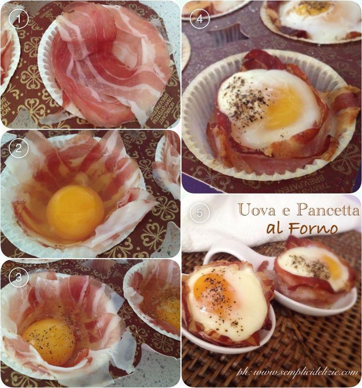 Uova e Pancetta al Forno - Semplici Delizie