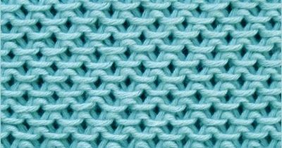 The pattern is lovely, giving a thick, textured fabric. This stitch is based on garter stitch, so there's no purling and it doesn't curl up.