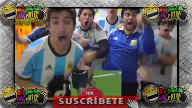 Reacción de hinchas argentinos en los penales Argentina vs Chile 2016