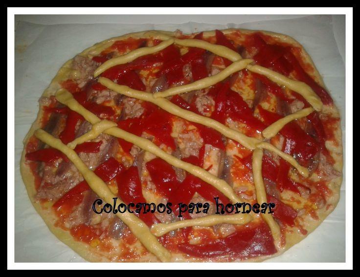 cocina_sos_antonia: BOLLO CASERO DE ANTONIA CON ARENQUES Y PIMIENTOS
