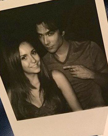 Nina Dobrev Takes Silly Photos With Ex Ian Somerhalder Before TVD Exit - Us Weekly