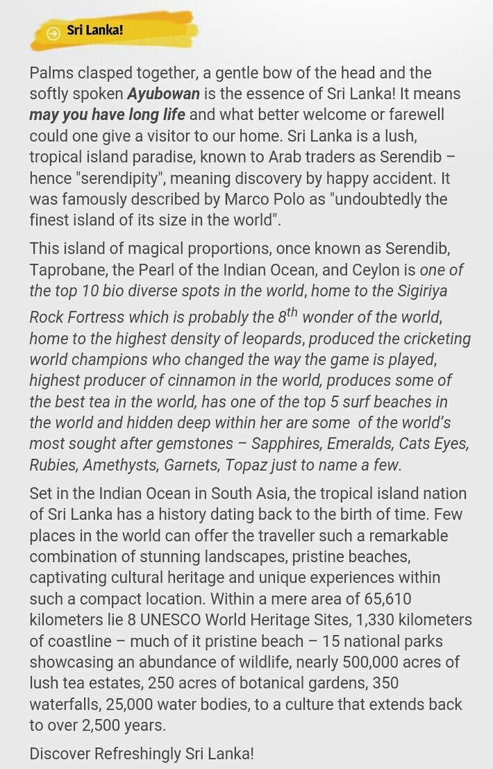 Travel to srilanka