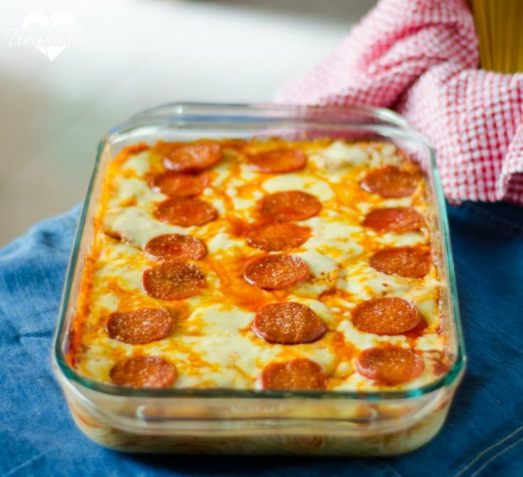 """Pizza Spaghetti Bake is a fun and yummy twist to two dishes that are favorites in many homes. This is a """"must add"""" to your weekly rotation of meals!"""