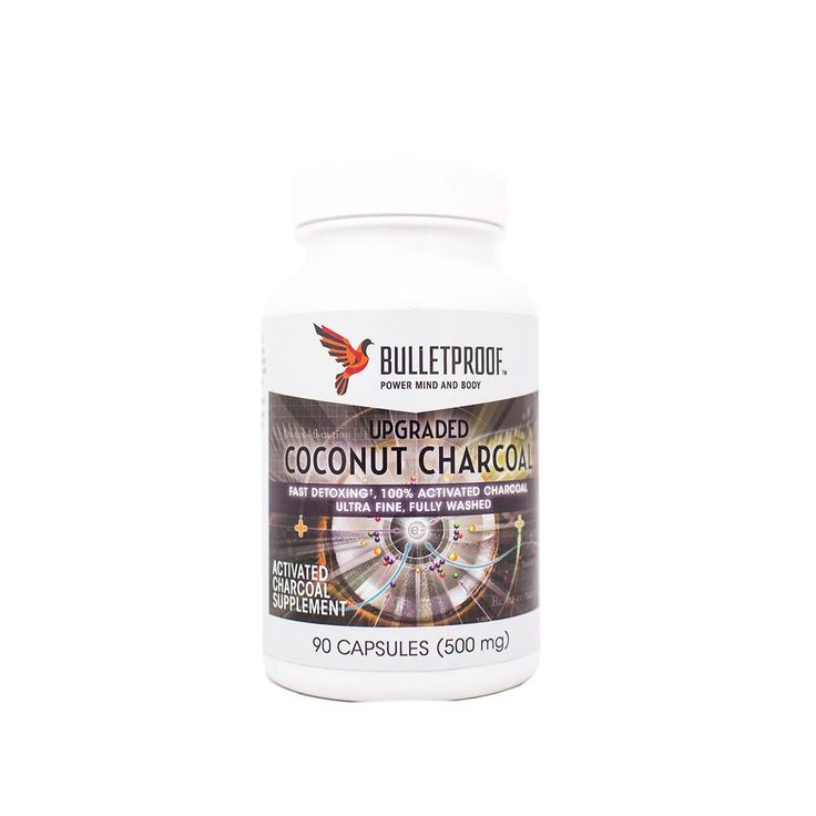 Bulletproof Coconut Charcoal Capsules 90 Ct. Activated charcoal is used to treat poisoning, be it from food, medication, or any other ingested substance.