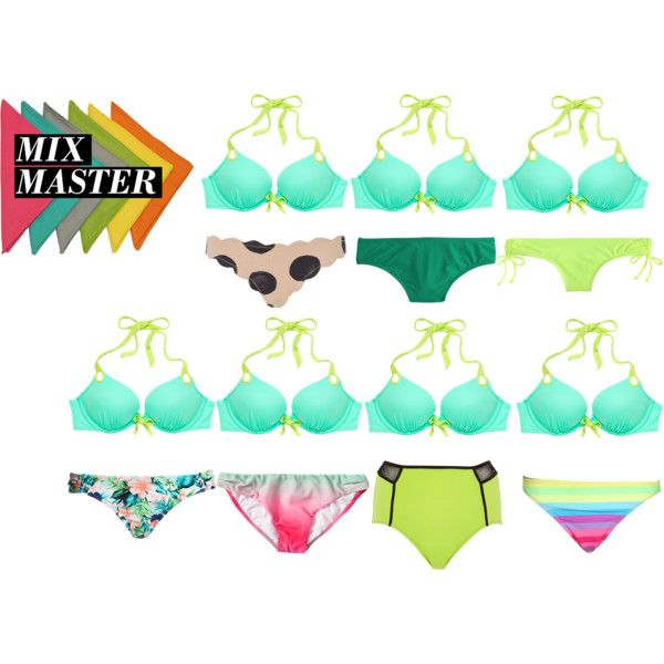 mix and match: swimwear VIII by robojono22 on Polyvore featuring Marysia Swim, Victoria's Secret, J.Crew, Boohoo, Hot Anatomy, River Island, Forever 21, MixandMatch and swimstyle