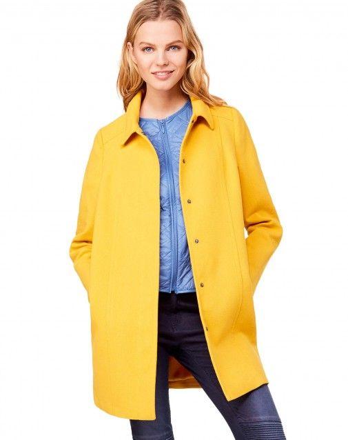 Mantel mit Kragen Gelb - Frau | Benetton