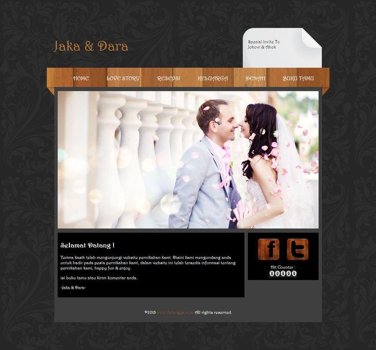 Undangan pernikahan online tema Einfache - datangya.com