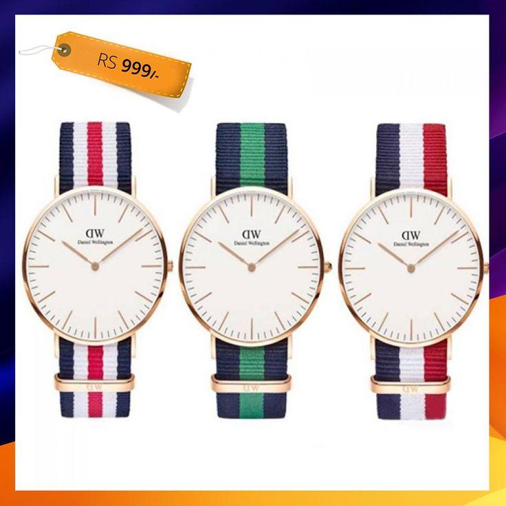 Daniel Wellington Replica Wrist Watch - Pack 03 (461-5195-White) Rs: 999 Original Price: Rs. 1999