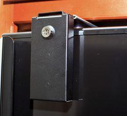 Black Keyed Refrigerator Lock